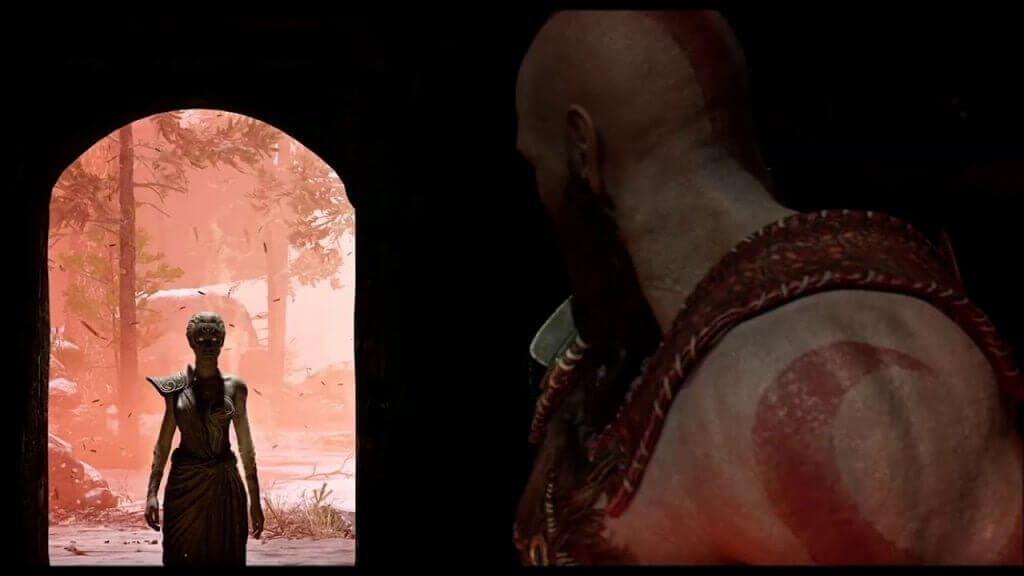 God of War Athena ve Blades of Chaos